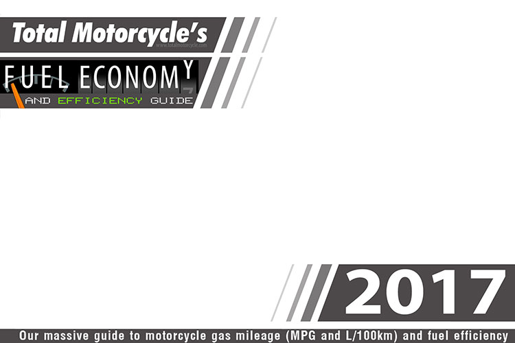 2017 motorcycle model fuel economy guide in mpg and l  100km