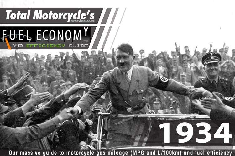 1934 Motorcycle MPG Fuel Economy Guide