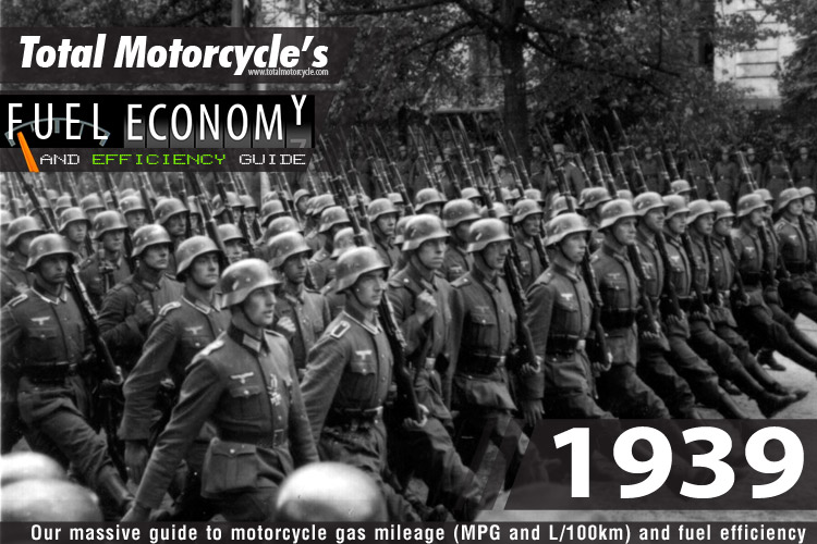 1939 Motorcycle MPG Fuel Economy Guide