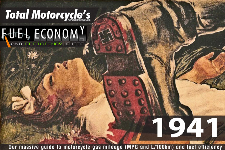 1941 Motorcycle MPG Fuel Economy Guide