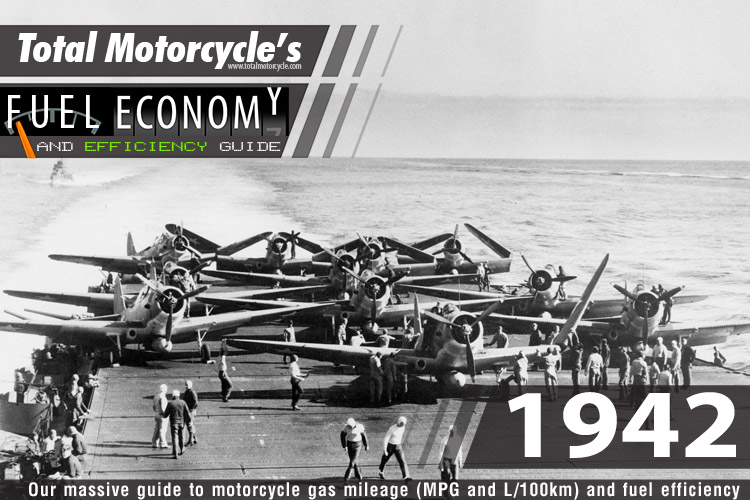 1942 Motorcycle MPG Fuel Economy Guide