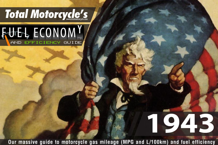 1943 Motorcycle MPG Fuel Economy Guide