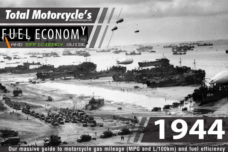 1944 Motorcycle MPG Fuel Economy Guide