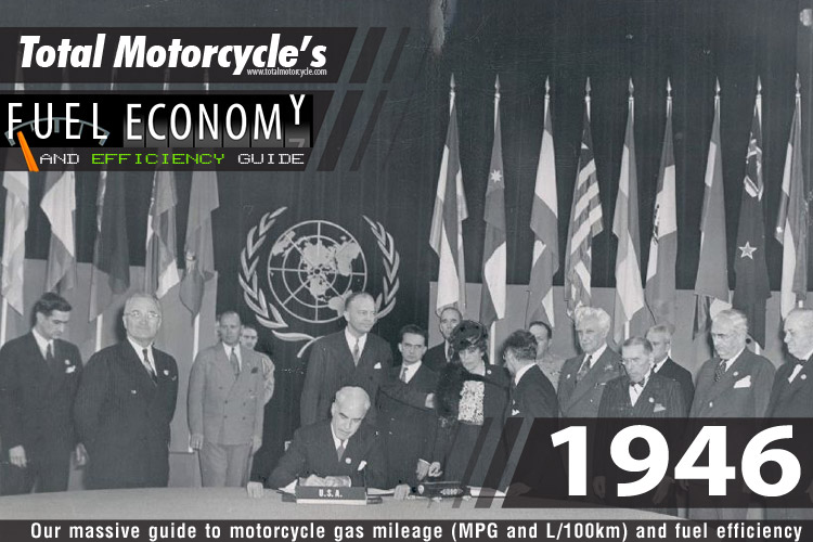 1946 Motorcycle MPG Fuel Economy Guide