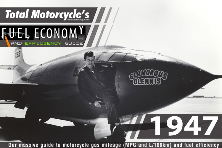 1947 Motorcycle MPG Fuel Economy Guide