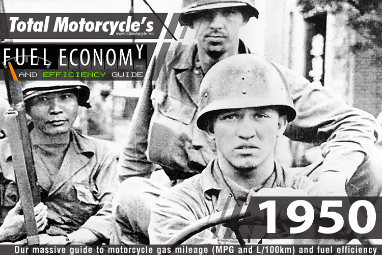 1950 Motorcycle MPG Fuel Economy Guide