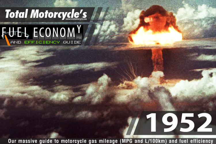 1952 Motorcycle MPG Fuel Economy Guide