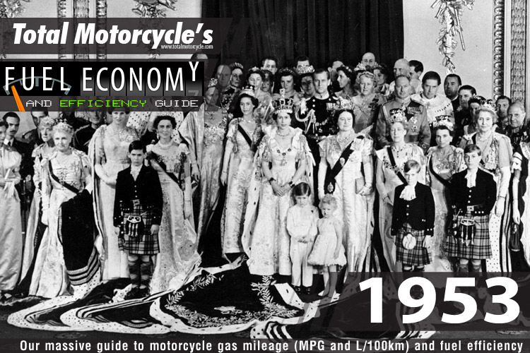 1953 Motorcycle MPG Fuel Economy Guide