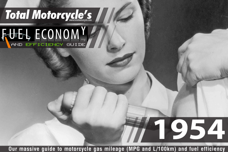 1954 Motorcycle MPG Fuel Economy Guide