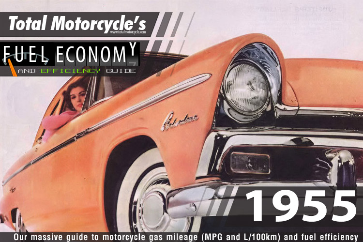 1955 Motorcycle MPG Fuel Economy Guide