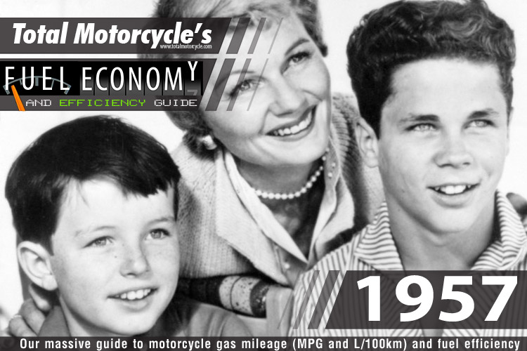 1957 Motorcycle MPG Fuel Economy Guide