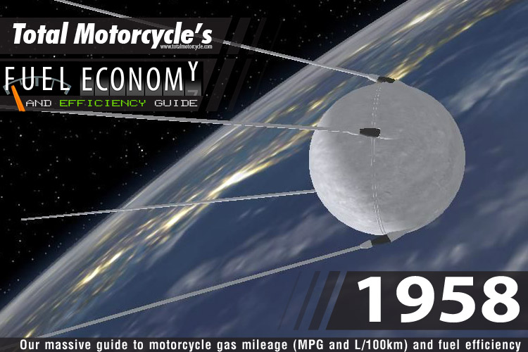 1958 Motorcycle MPG Fuel Economy Guide