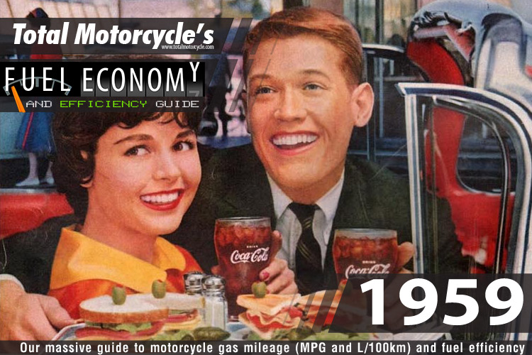 1959 Motorcycle MPG Fuel Economy Guide