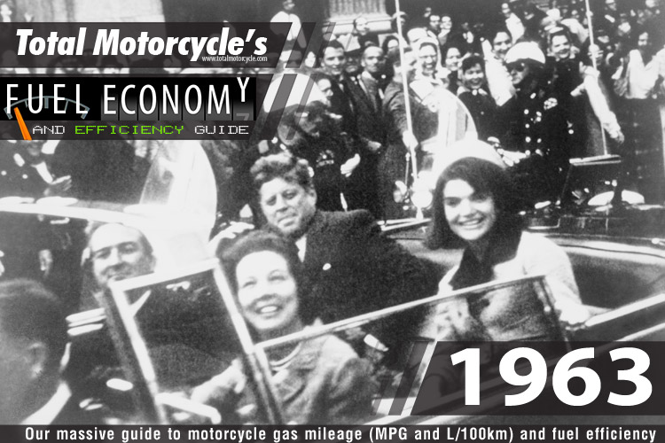 1963 Motorcycle MPG Fuel Economy Guide
