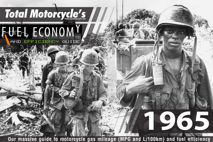 1965 Motorcycle MPG Fuel Economy Guide