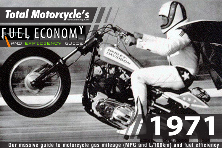 1971 Motorcycle MPG Fuel Economy Guide