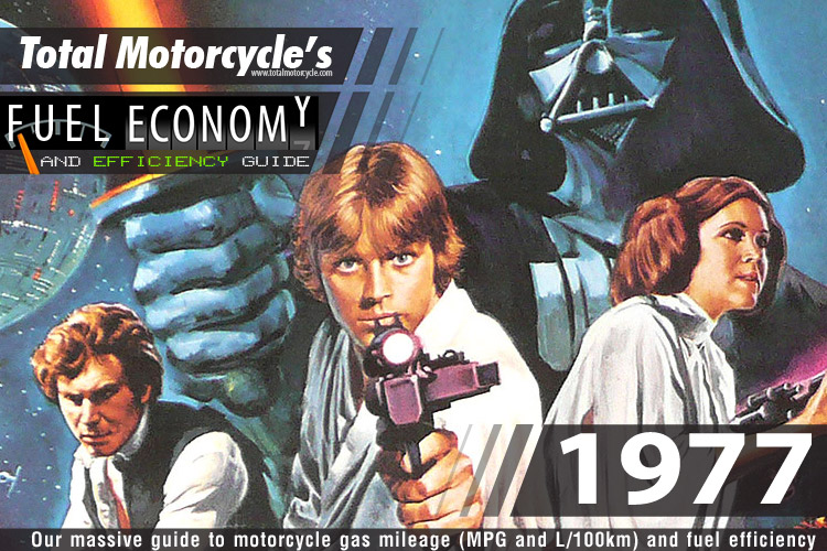 1977 Motorcycle MPG Fuel Economy Guide