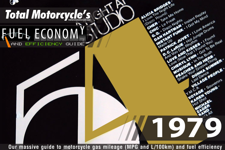 1979 Motorcycle MPG Fuel Economy Guide