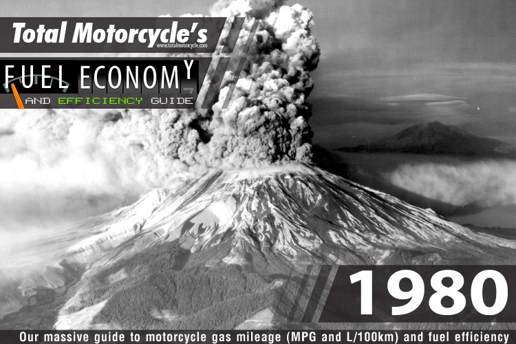 1980 Motorcycle MPG Fuel Economy Guide