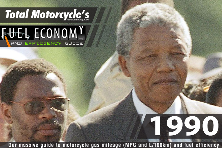 1990 Motorcycle MPG Fuel Economy Guide