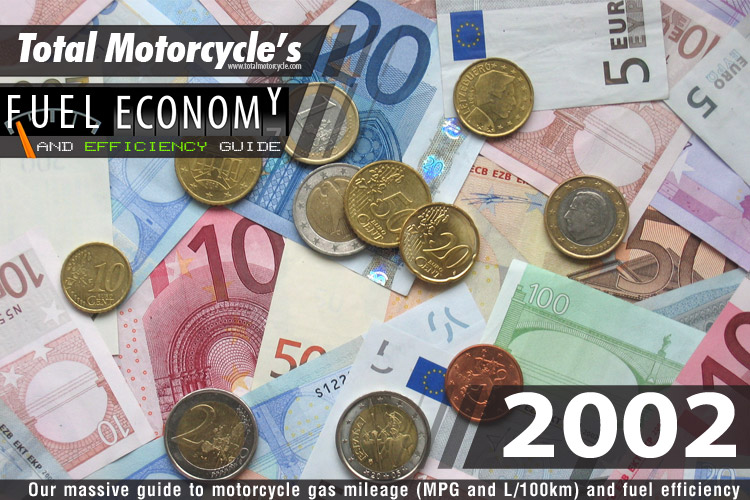 2002 Motorcycle MPG Fuel Economy Guide