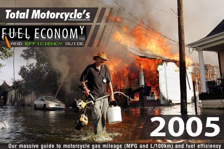 2005 Motorcycle Model Fuel Economy Guide In Mpg And L 100km Page 1