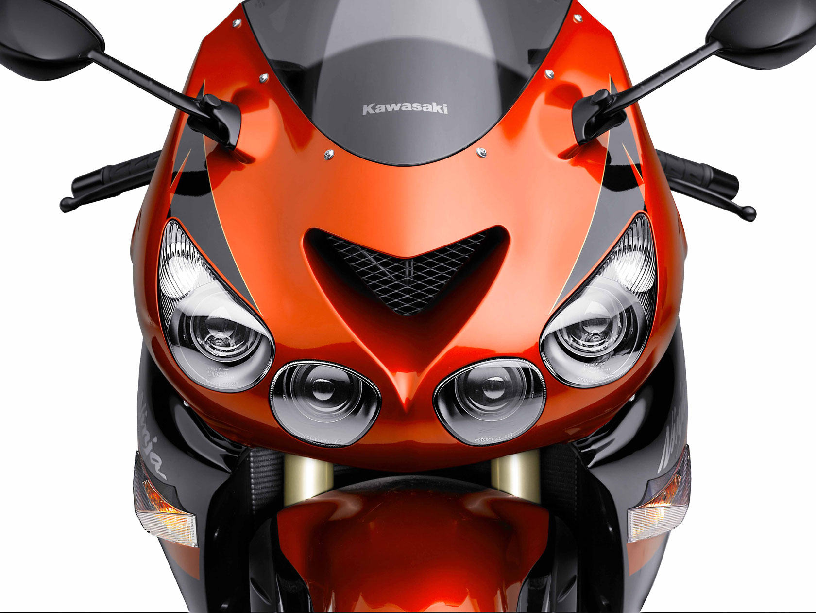 Kawasaki Ninja ZX-14 Candy Burnt Orange hyper sport bike
