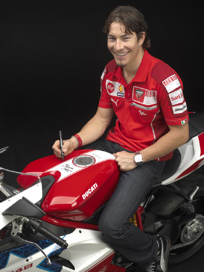 Nicky Hayden in 2010 Ducati 848