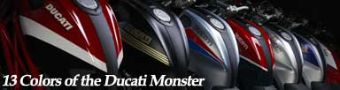 Ducati Monster 696, 796 - 13 Colors