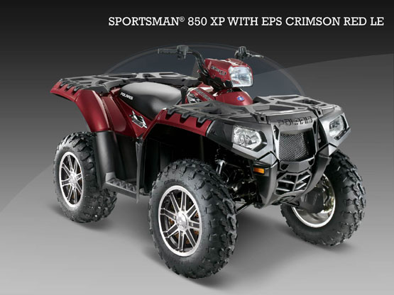 2010 Polaris 850 XP EPS Crimson Red LE