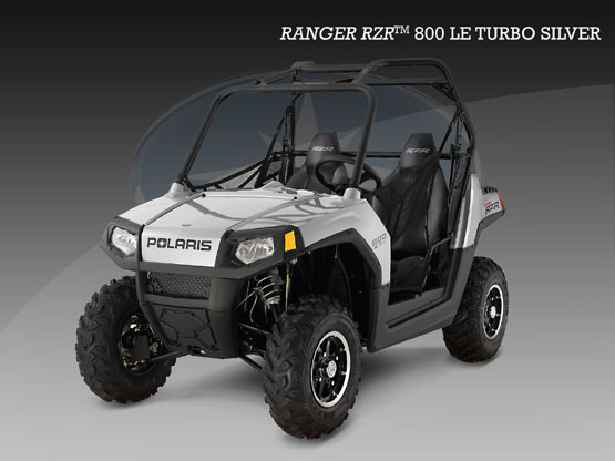 2010 Polaris Ranger RZR Turbo Silver