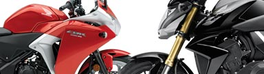 2011 Honda CBR250R and CB1000R