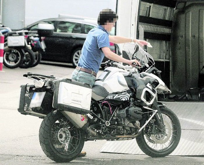 2012 BMW R1200GS water cooled engine spyshot