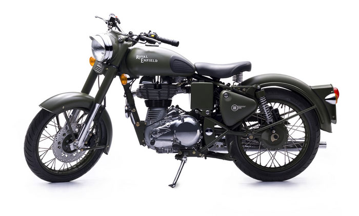 2013 Royal Enfield Bullet Military Classic Battle Green Desert Storm