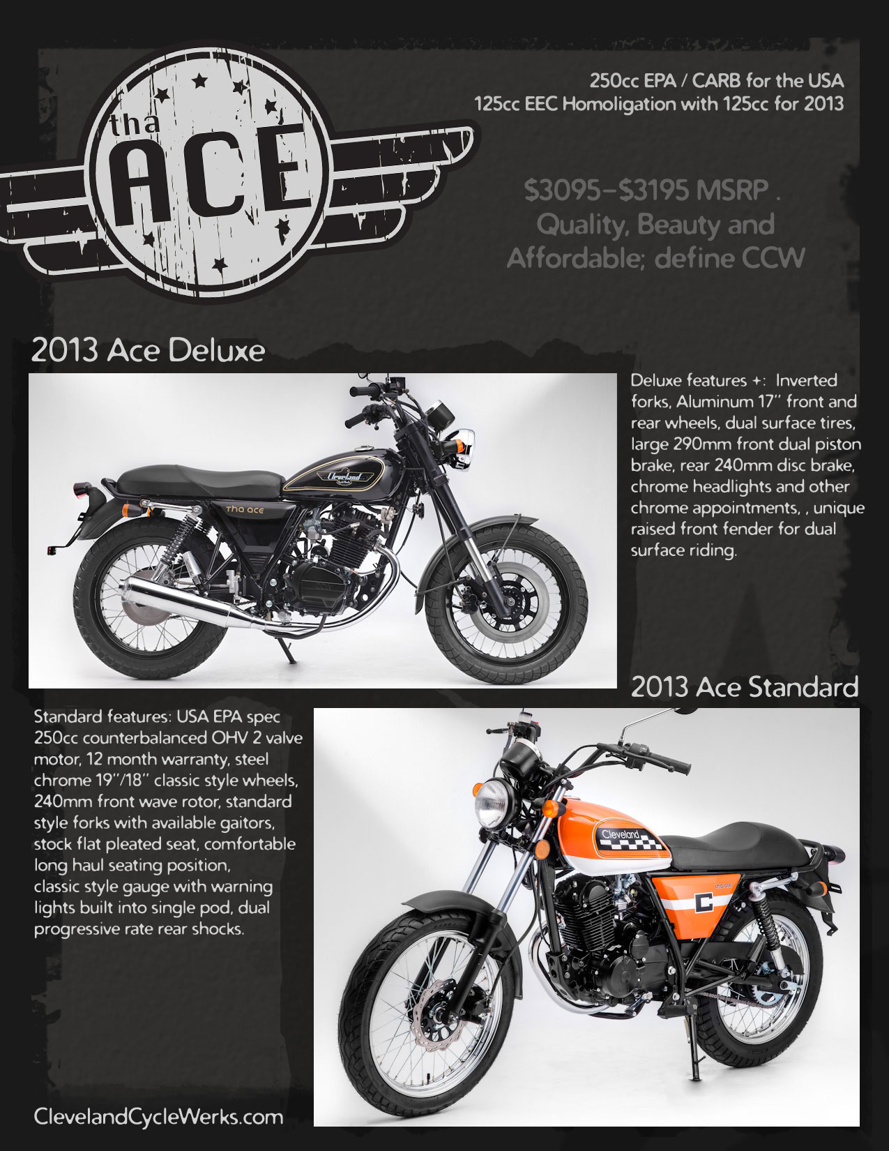 2013 cleveland cyclewerks ace deluxe review for Motor warranty services of north america