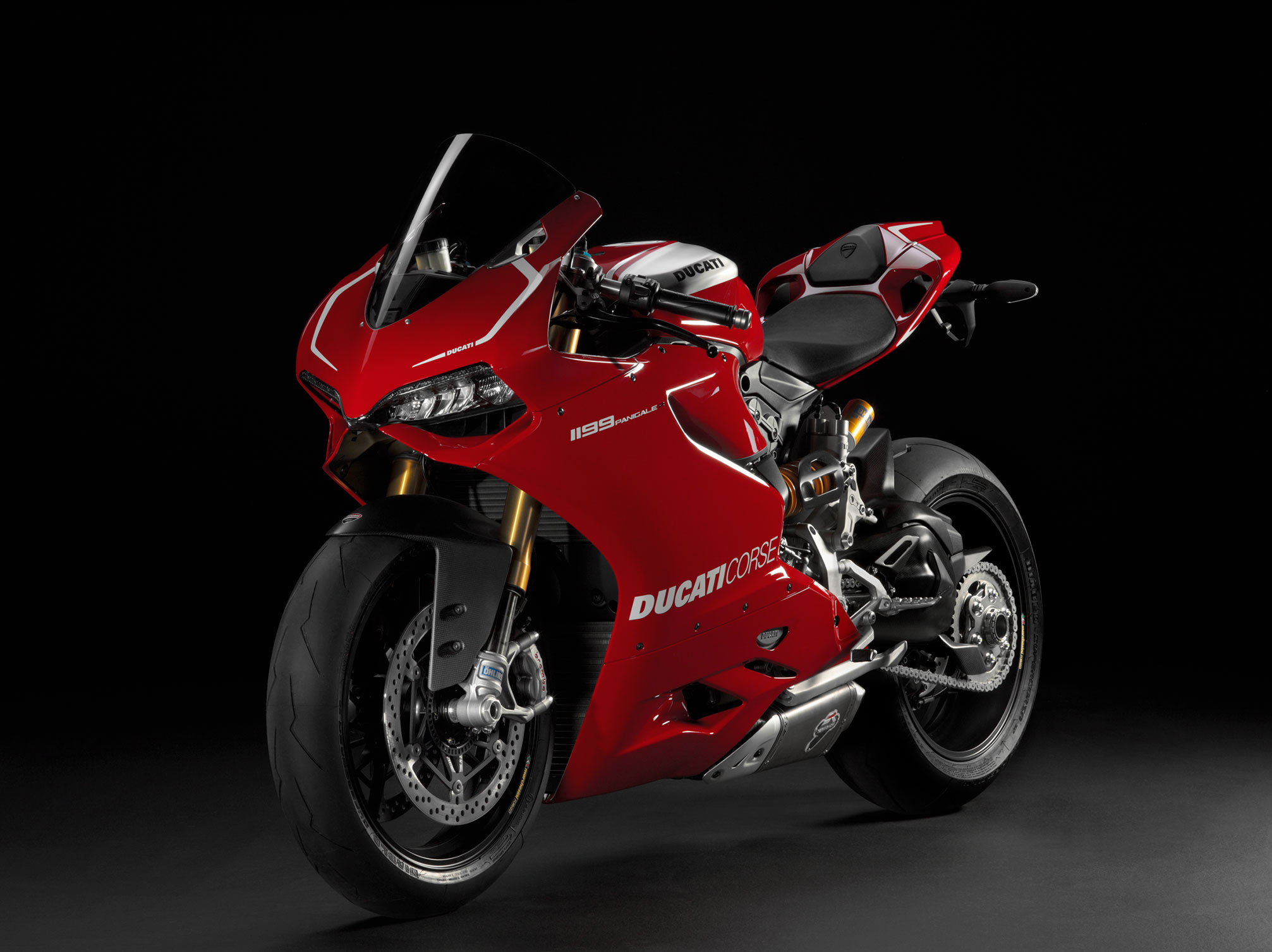 Harley manages to fit all the complex electronics and emissions gear - 2013 Ducati Superbike 1199 Panigale R