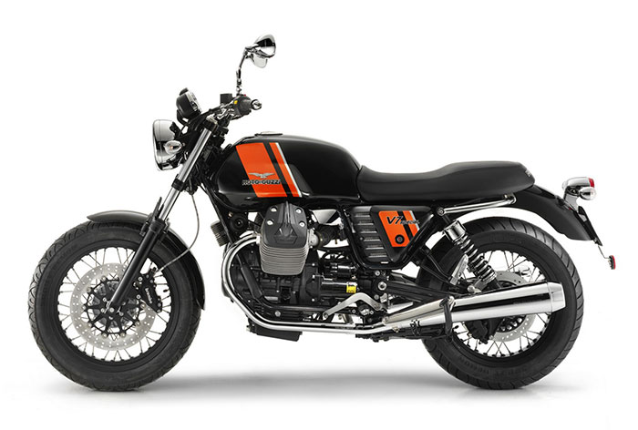 2013 Moto Guzzi V7 Special (Black and Orange EU version)