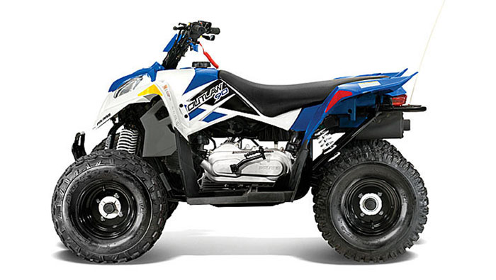 2013 Polaris Outlaw 90 Boardwalk Blue/White