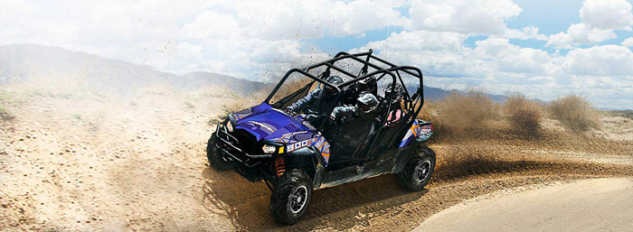 2013 Polaris RZR4 800 EPS Blue Fire/Orange LE