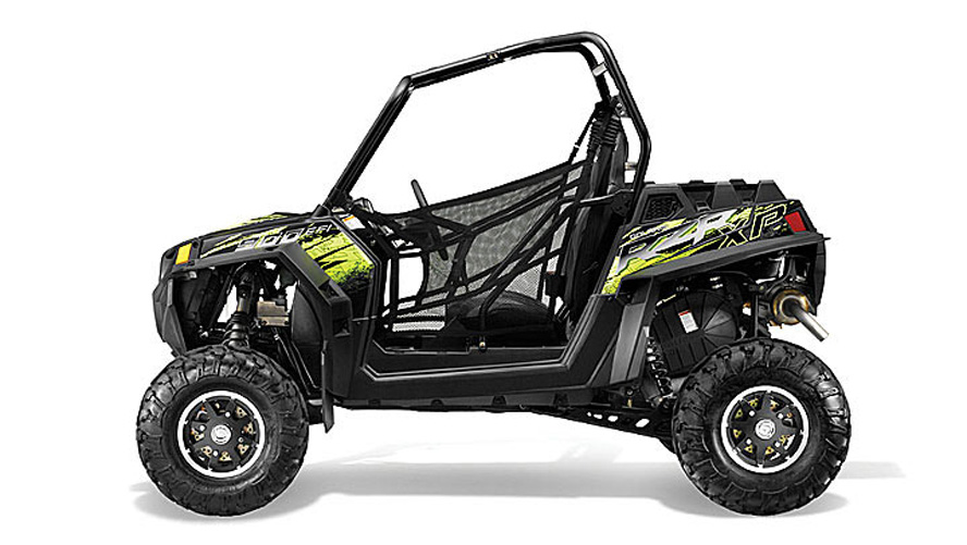 Black Graphite and Neon Green Polaris RZR Grab Handles