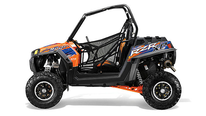 2013 Polaris RZR XP900 EPS Orange Madness/Blue LE