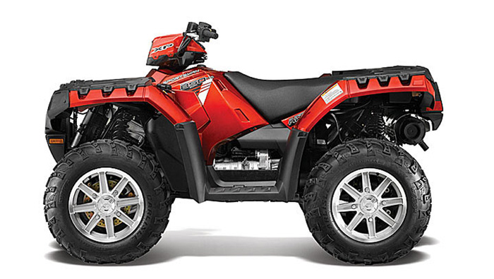 2013 Polaris Sportsman XP850 HO EPS Sunset Red
