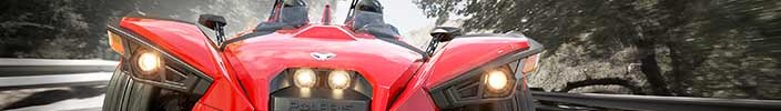 ...you built a time machine... out of the new 2015 Polaris Slingshot!?