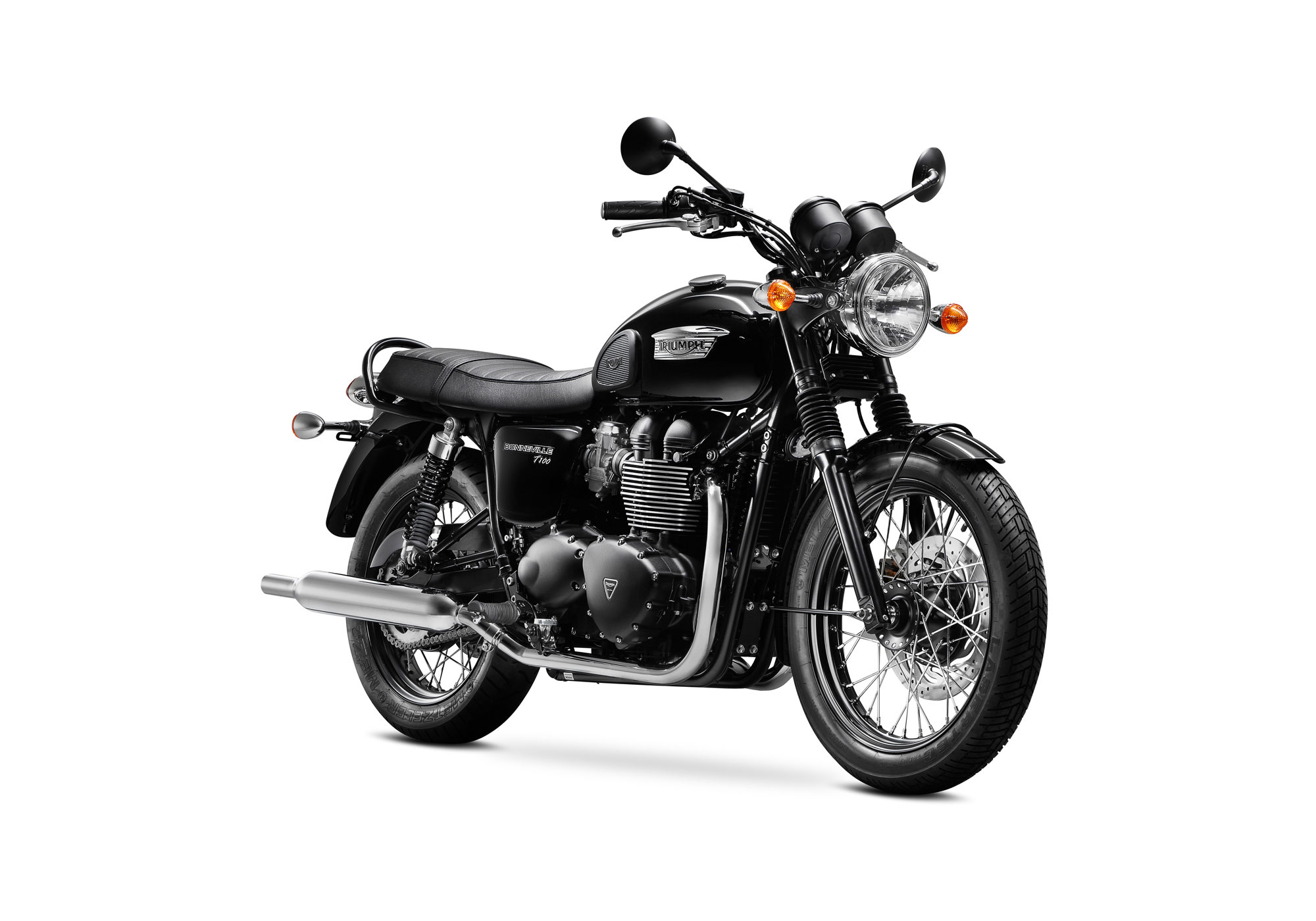 2015 triumph bonneville t100 black review. Black Bedroom Furniture Sets. Home Design Ideas