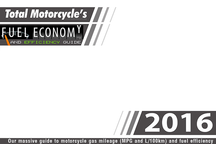 2016 Motorcycle MPG Fuel Economy Guide