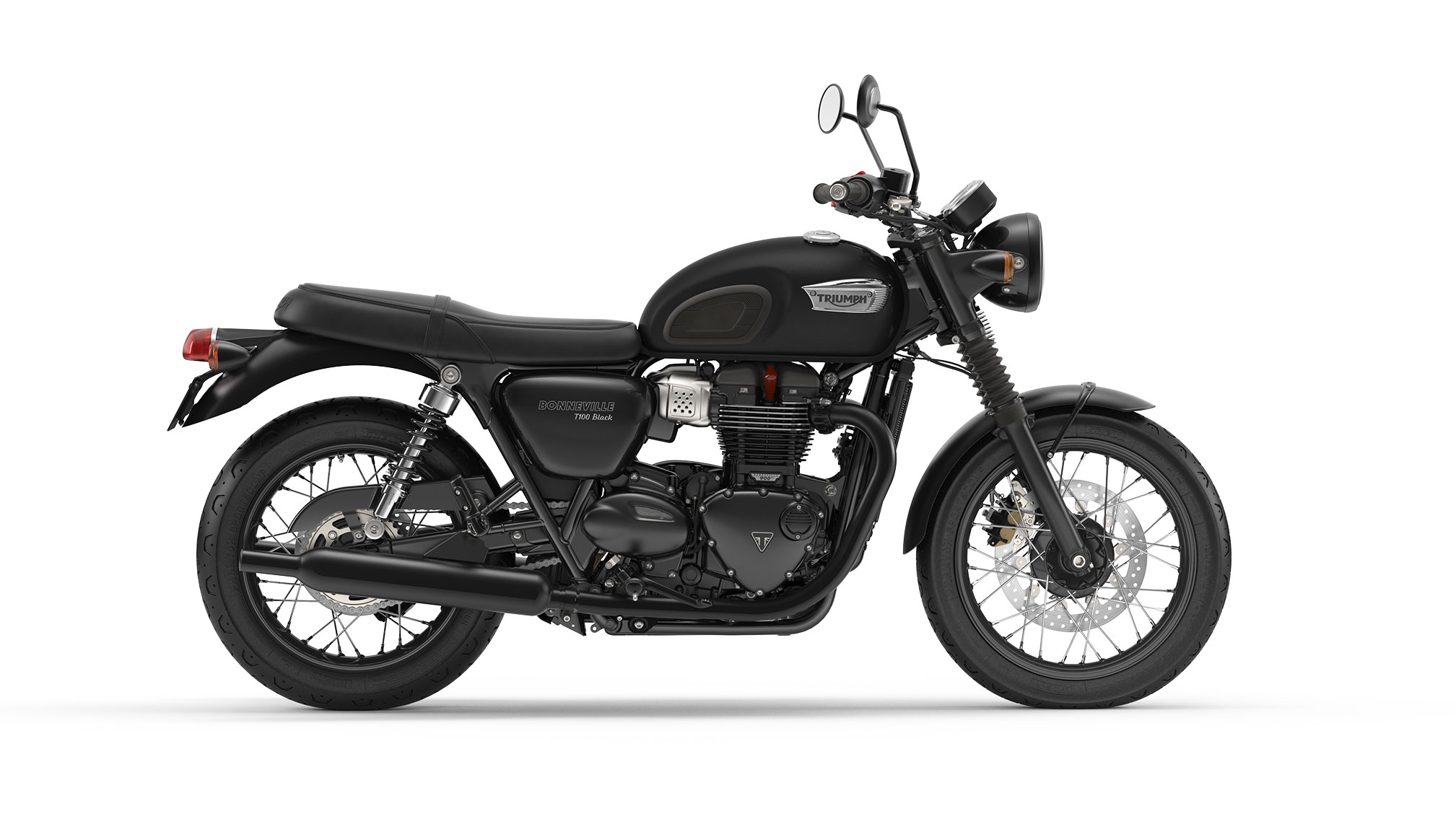 2017 triumph bonneville t100 black review. Black Bedroom Furniture Sets. Home Design Ideas