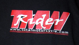 Black Total Motorcycle T-shirts