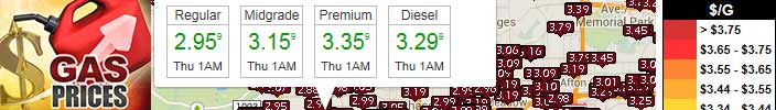 National and Local Gas Price Maps added to our Travel Guide
