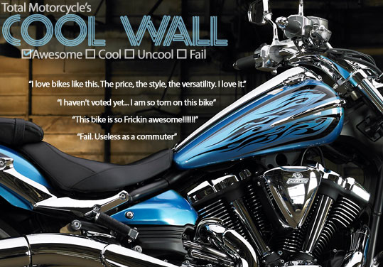 Total Motorcycle's Cool Wall Results. Your Guide to Motorcycle Coolness.