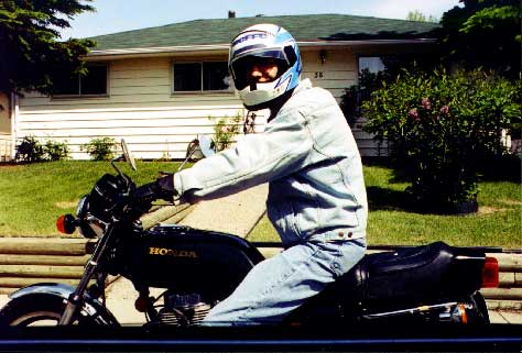 First photo of me on a motorcycle! Seems like ages ago...